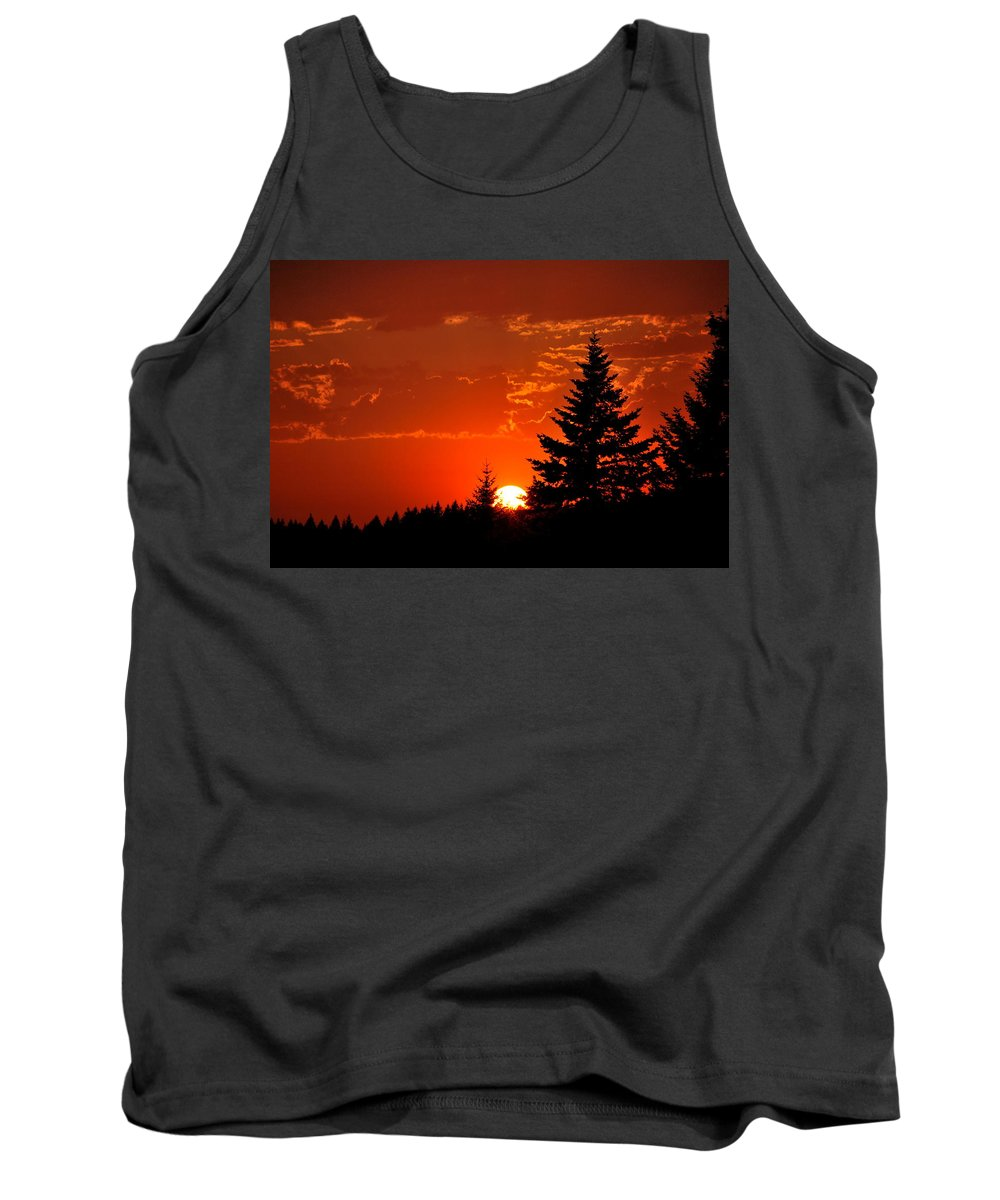 Sun Tank Top featuring the photograph Setting Low II by Kathy Sampson