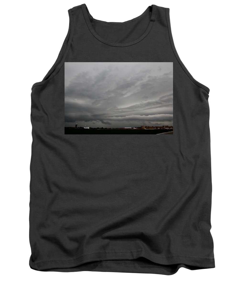 Stormscape Tank Top featuring the photograph Severe Warned Nebraska Storm Cells by NebraskaSC