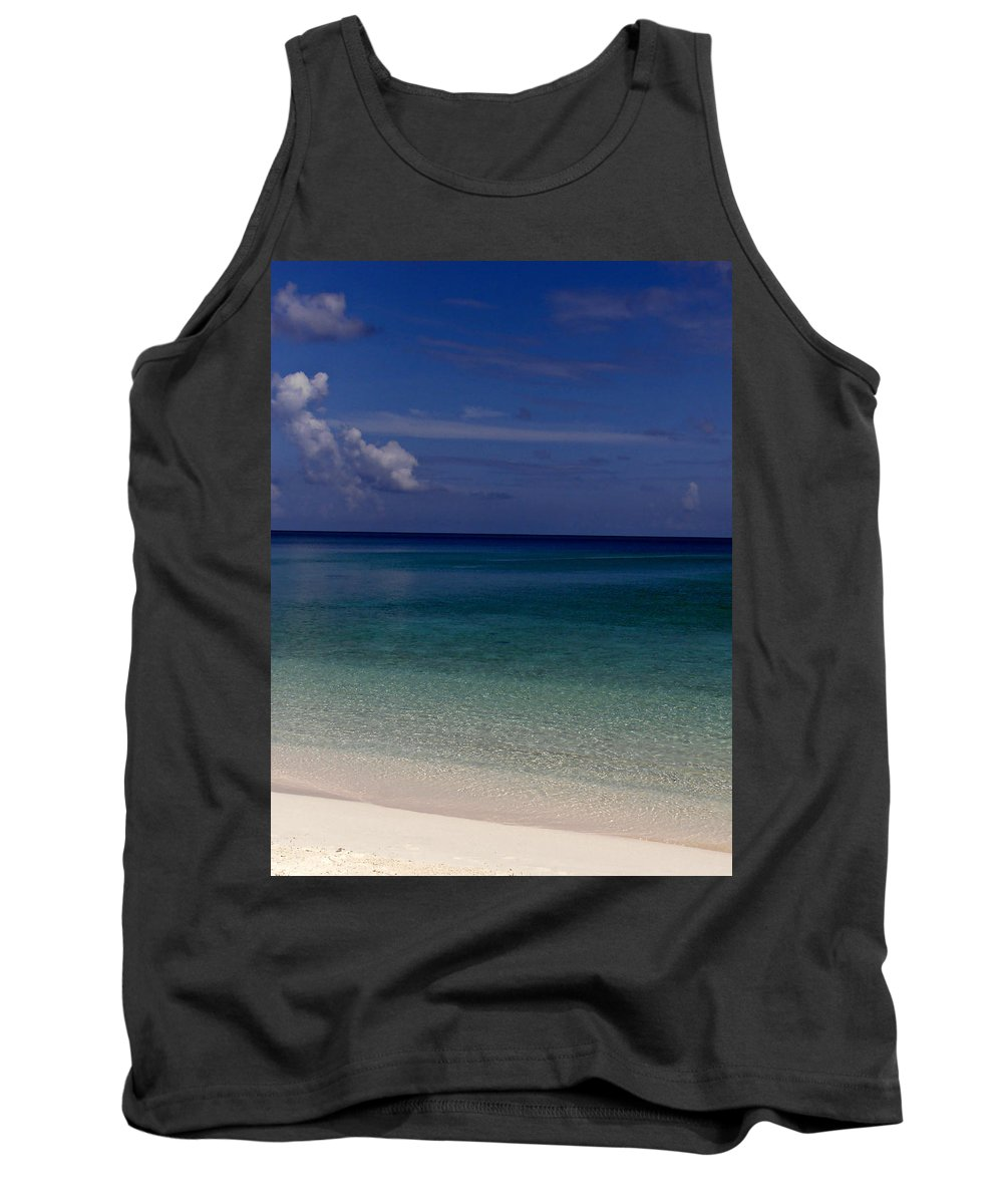 Ocean Tank Top featuring the photograph Shades Of Blue by Kimberly Perry
