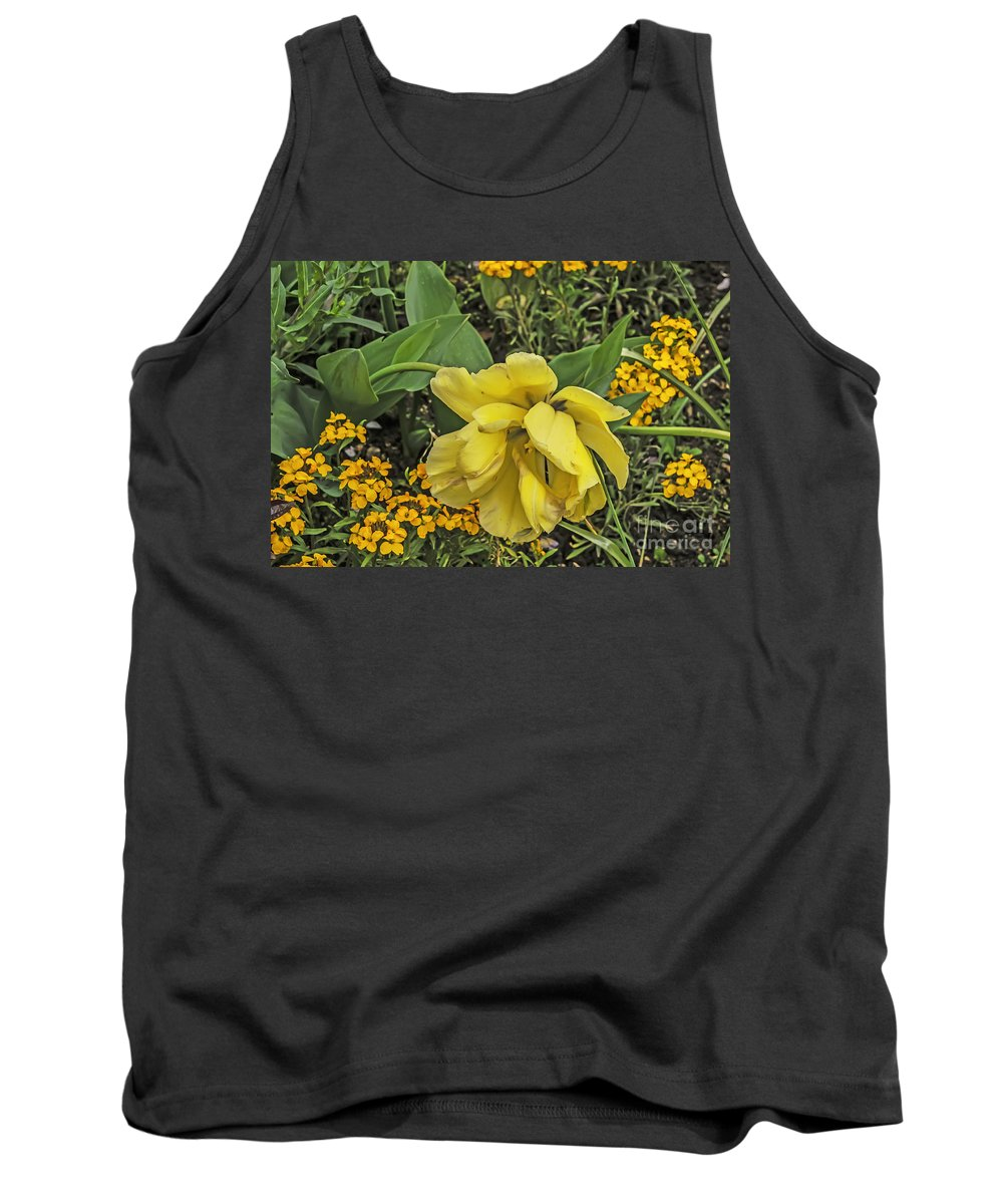 Travel Tank Top featuring the photograph Shades Of Yellow by Elvis Vaughn
