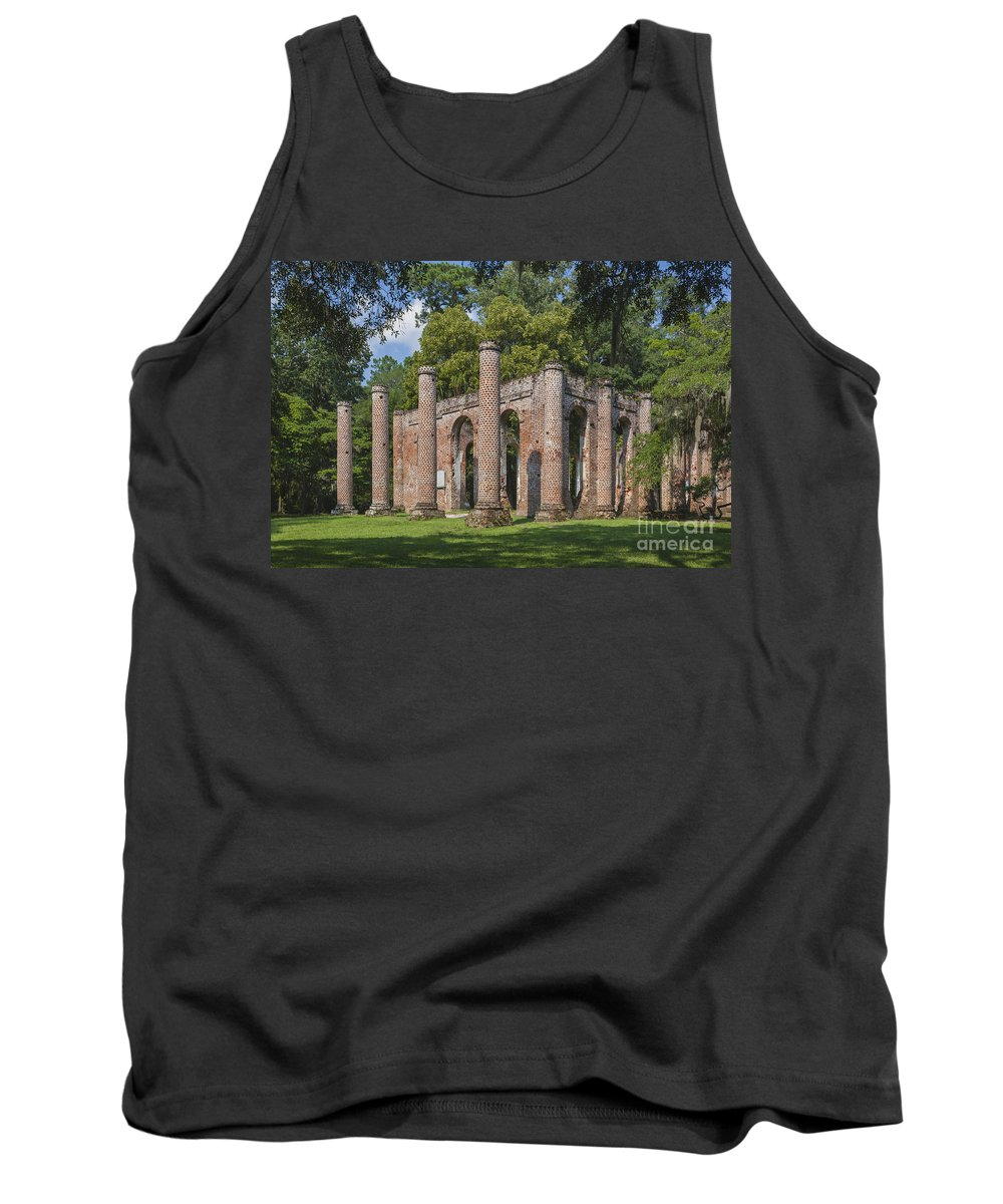 Historic Churches Tank Top featuring the photograph Sheldon Church 193 by Maria Struss