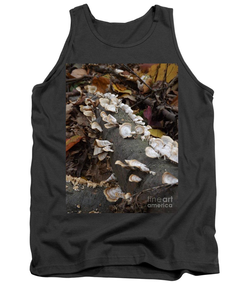 Fungus Tank Top featuring the photograph Shelf Mushrooms In Autumn by Sara Raber
