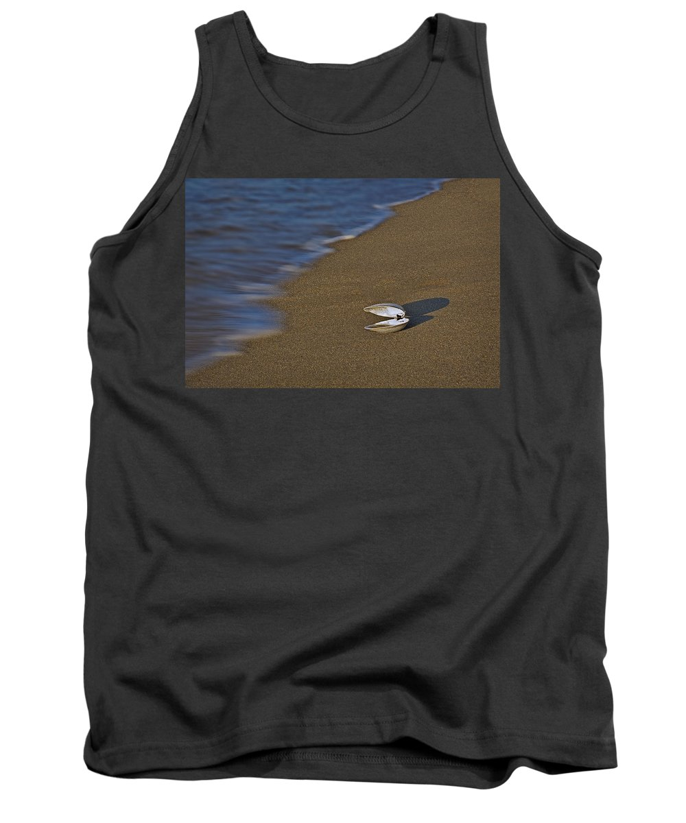 Sea Shell Tank Top featuring the photograph Shell By The Shore by Susan Candelario