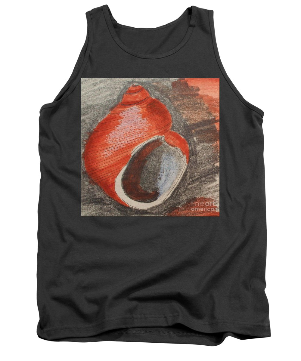 Shell Tank Top featuring the painting Shell by Eric Schiabor