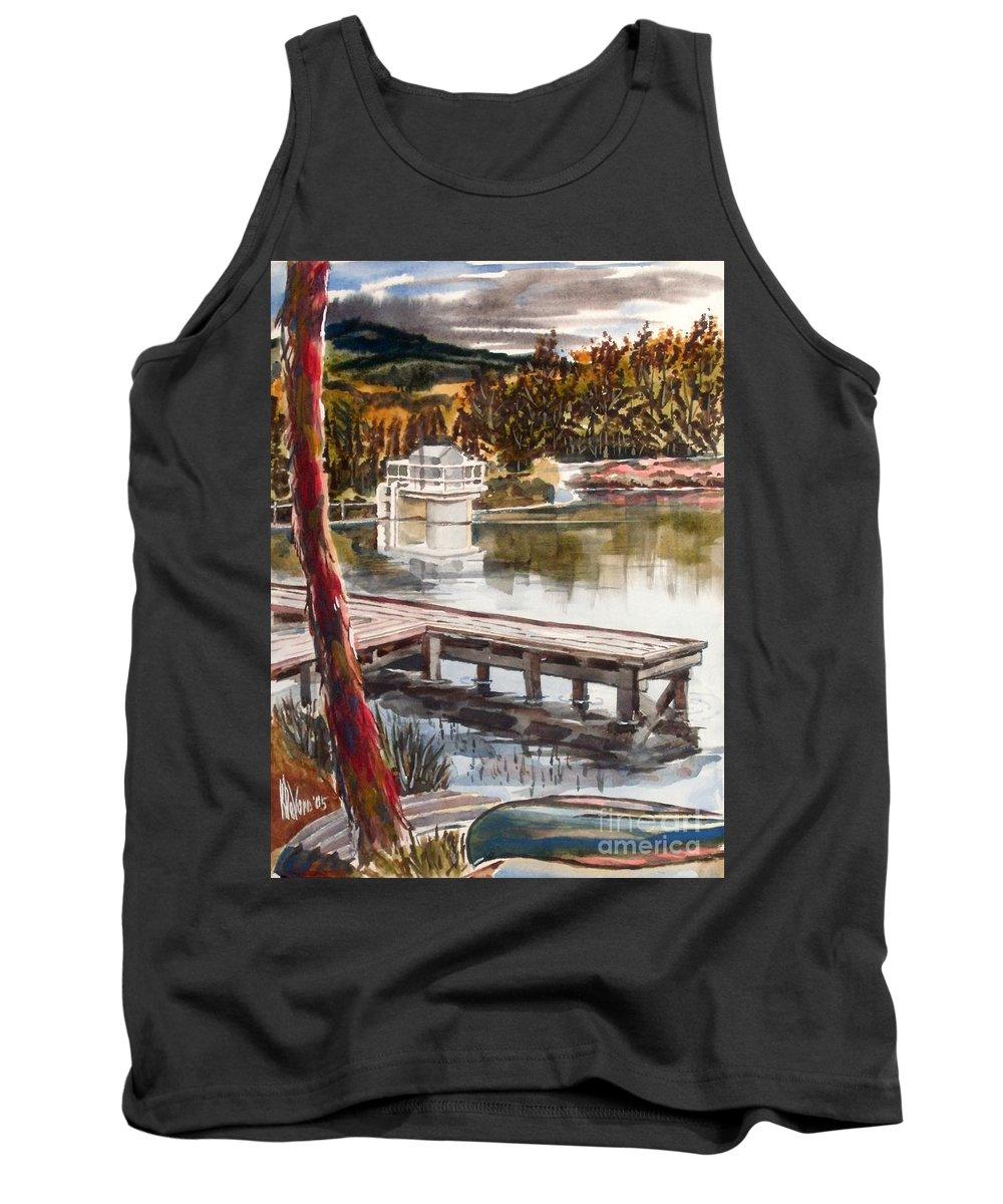 Shepherd Mountain Lake In Twilight Tank Top featuring the painting Shepherd Mountain Lake In Twilight by Kip DeVore