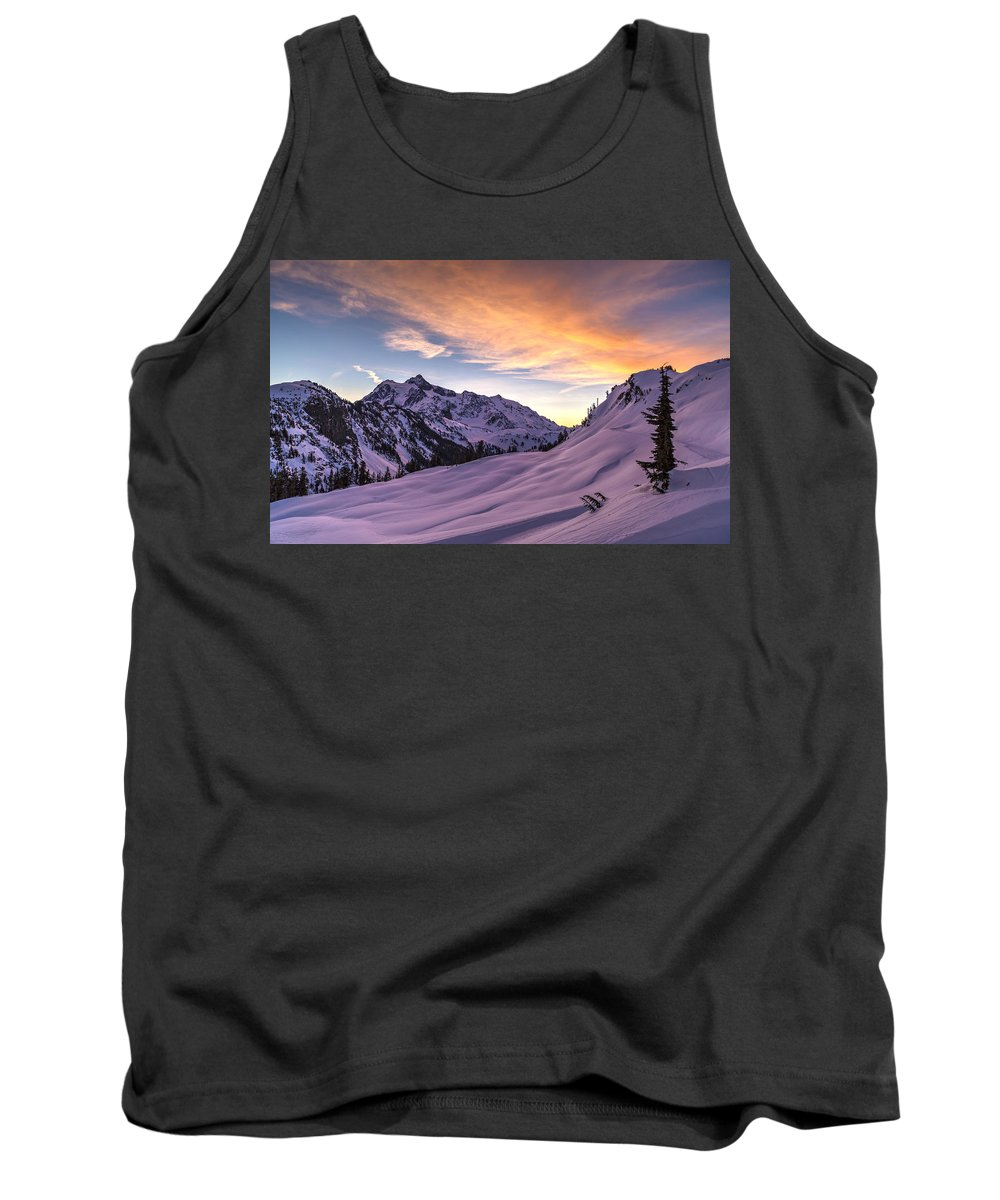 Mount Baker Tank Top featuring the photograph Shuksan Morning Skies by Mike Reid