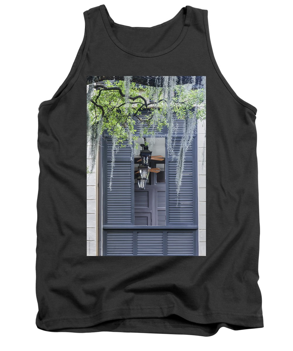 Spanish Moss Tank Top featuring the photograph Shuttered Savannah by Debbie Karnes