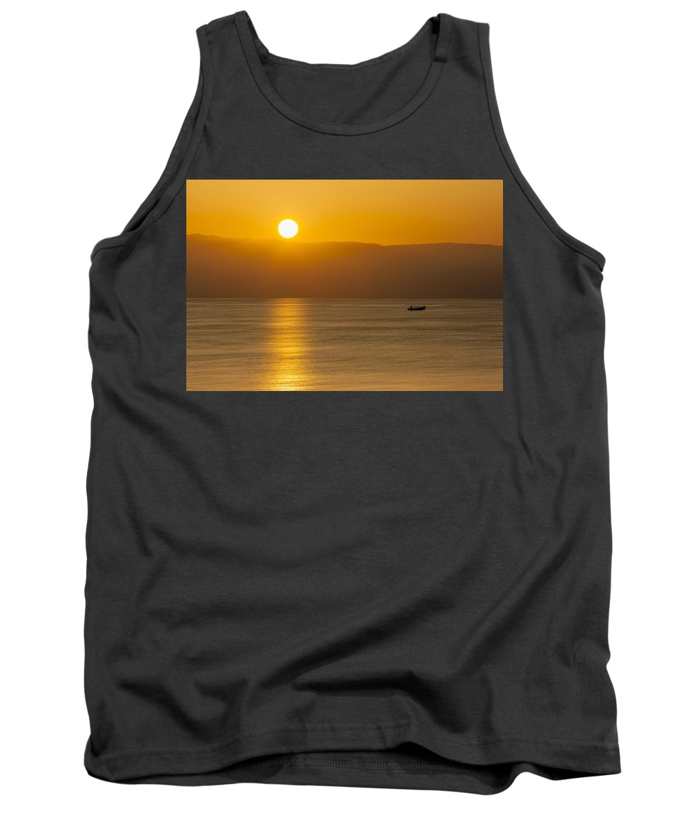 Dawn Tank Top featuring the photograph Sicilian Dawn by Alfio Finocchiaro