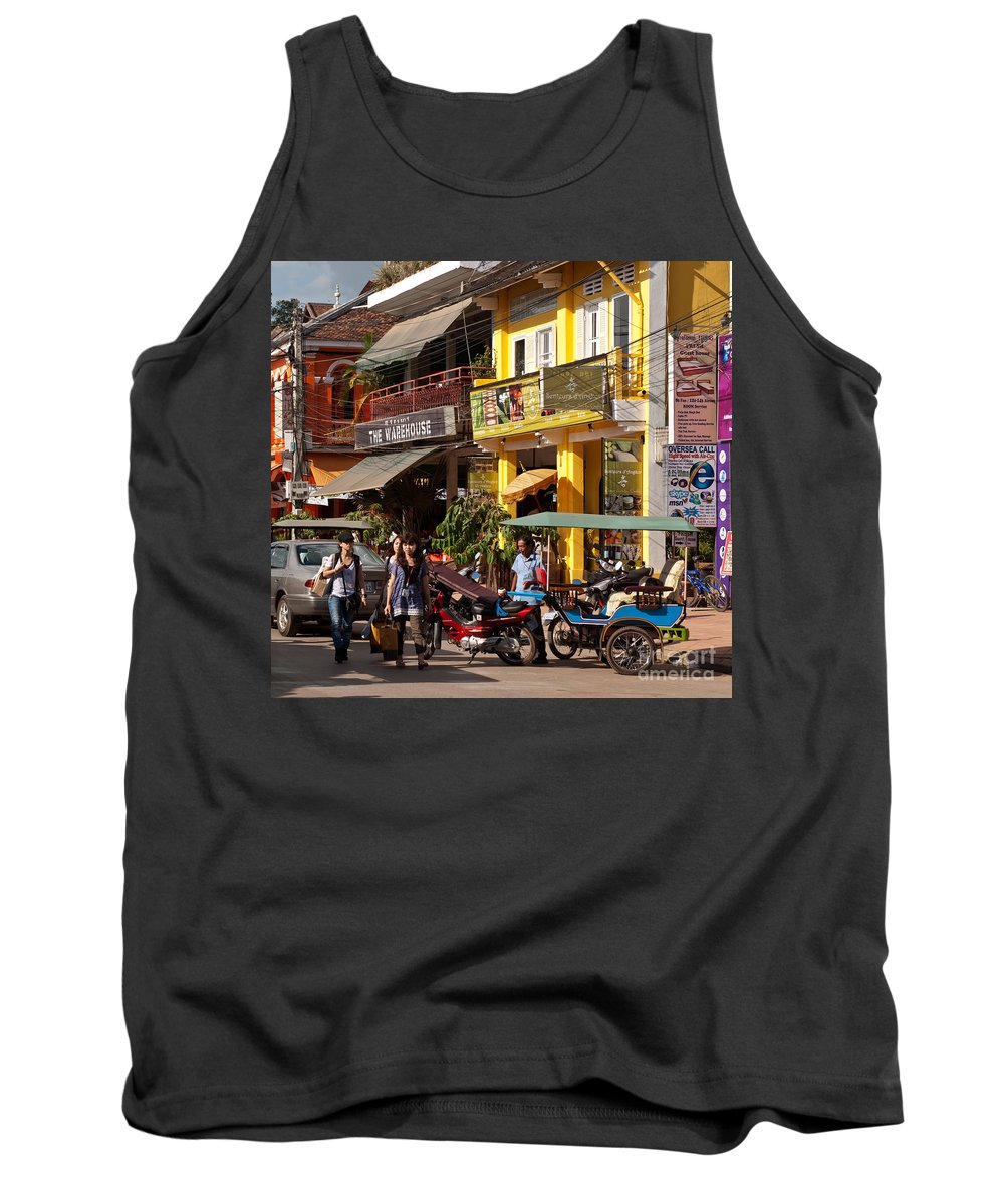 Cambodia Tank Top featuring the photograph Siem Reap 03 by Rick Piper Photography