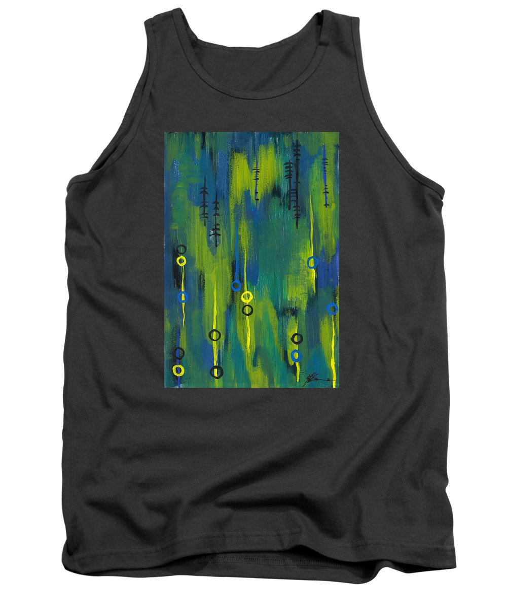 Acrylic Paintings Tank Top featuring the painting Signals by Aparna Raghunathan