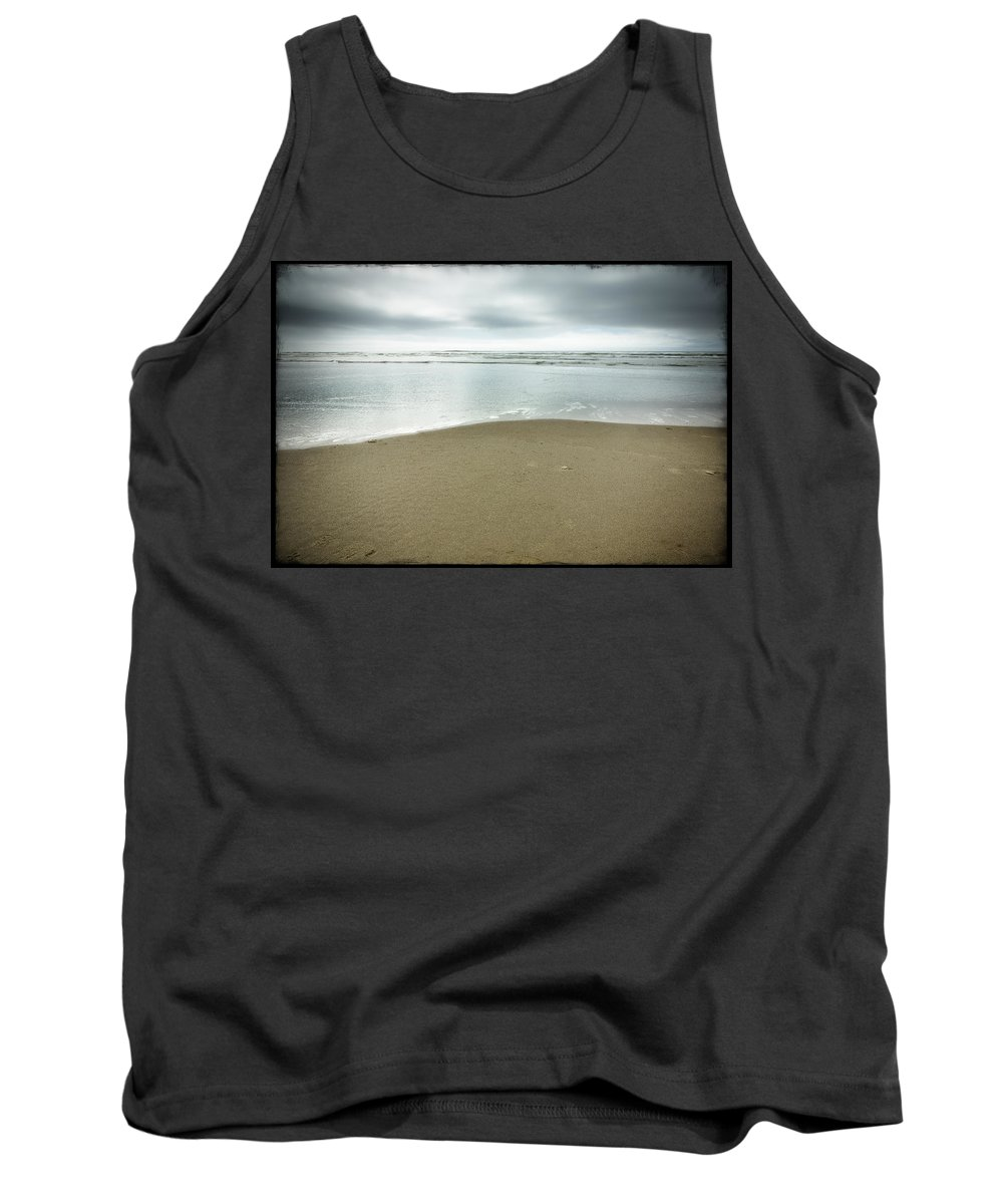 Ocean Tank Top featuring the photograph Silver Blue Sea by Belinda Greb