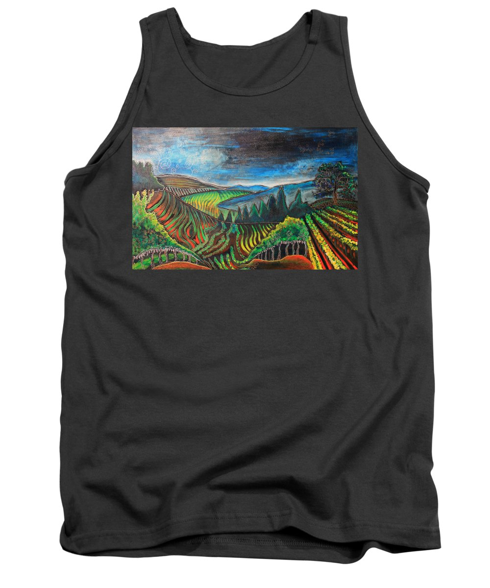 Tank Top featuring the painting Silverado Trail by Gideon Cohn