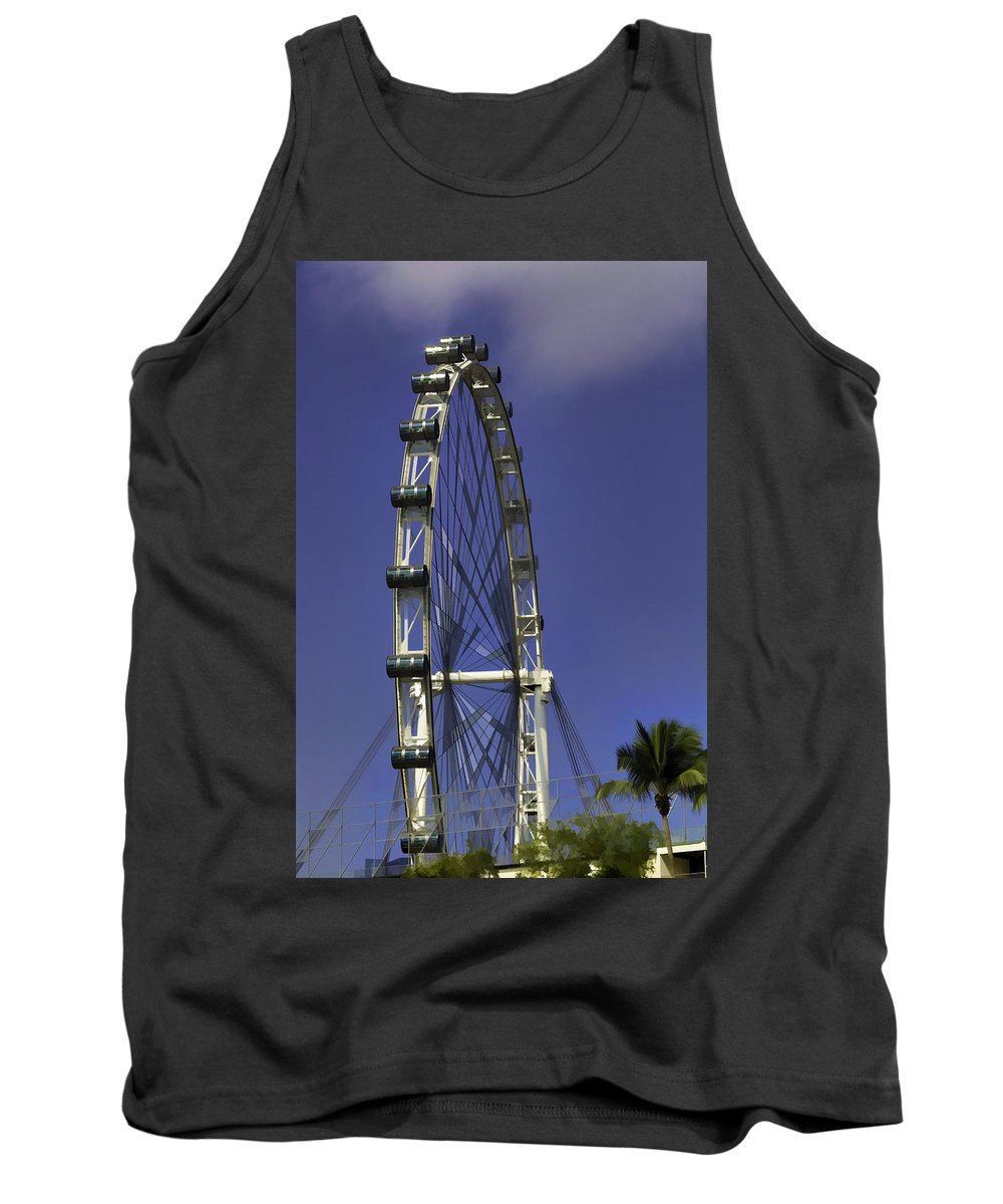 Asia Tank Top featuring the photograph Singapore Flyer by Ashish Agarwal