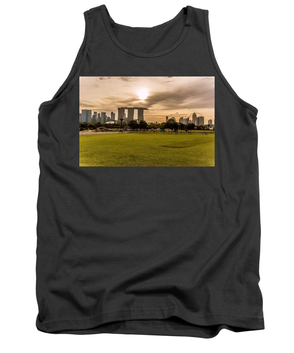 Singapore Tank Top featuring the photograph Singapore Skyline 2 by Jijo George
