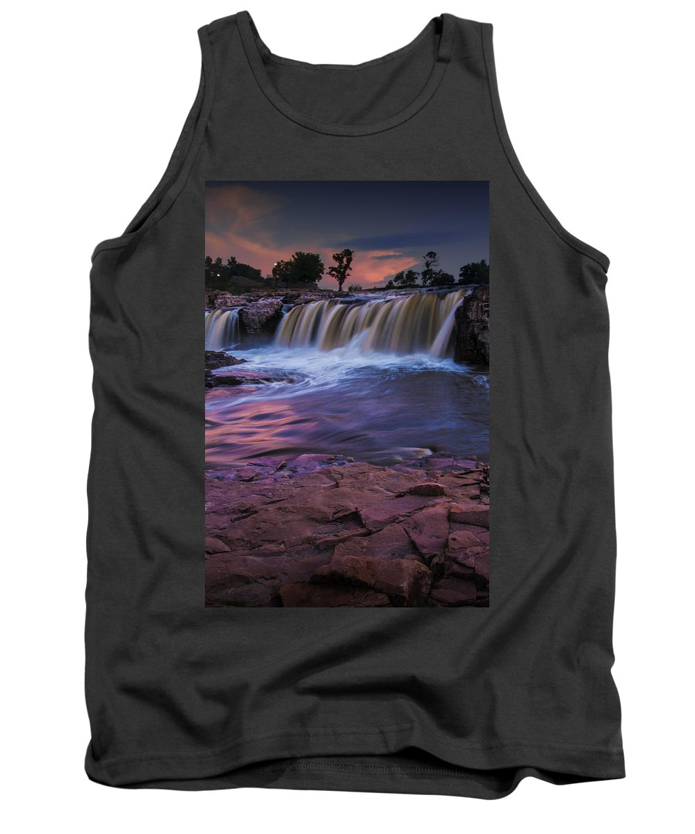 Midwest Tank Top featuring the photograph Sioux Falls In South Dakota by Randall Nyhof