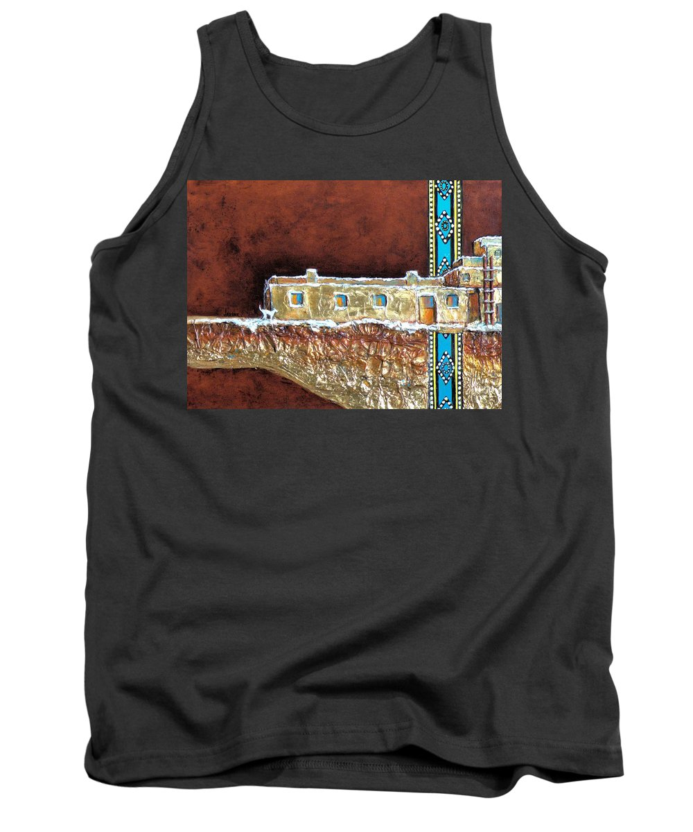 Jaxine Cummins Tank Top featuring the painting Sitting On A Gold Mine by JAXINE Cummins