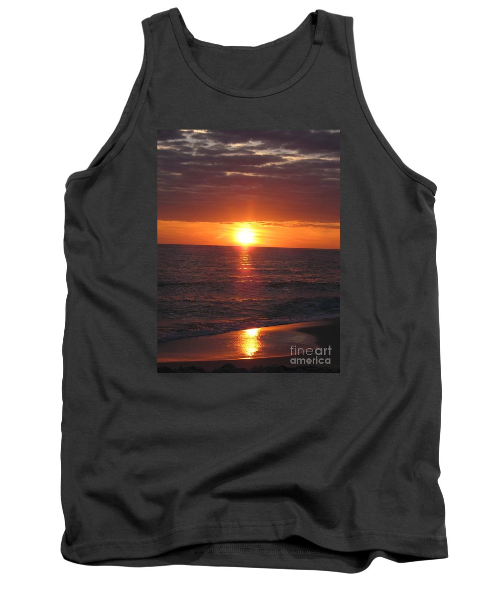 Sunset Tank Top featuring the photograph Sky On Fire I by Christiane Schulze Art And Photography