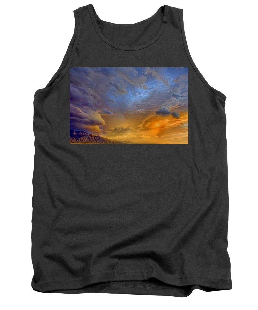 Clouds Tank Top featuring the photograph Sky Painting Photo 3621 by Brian King