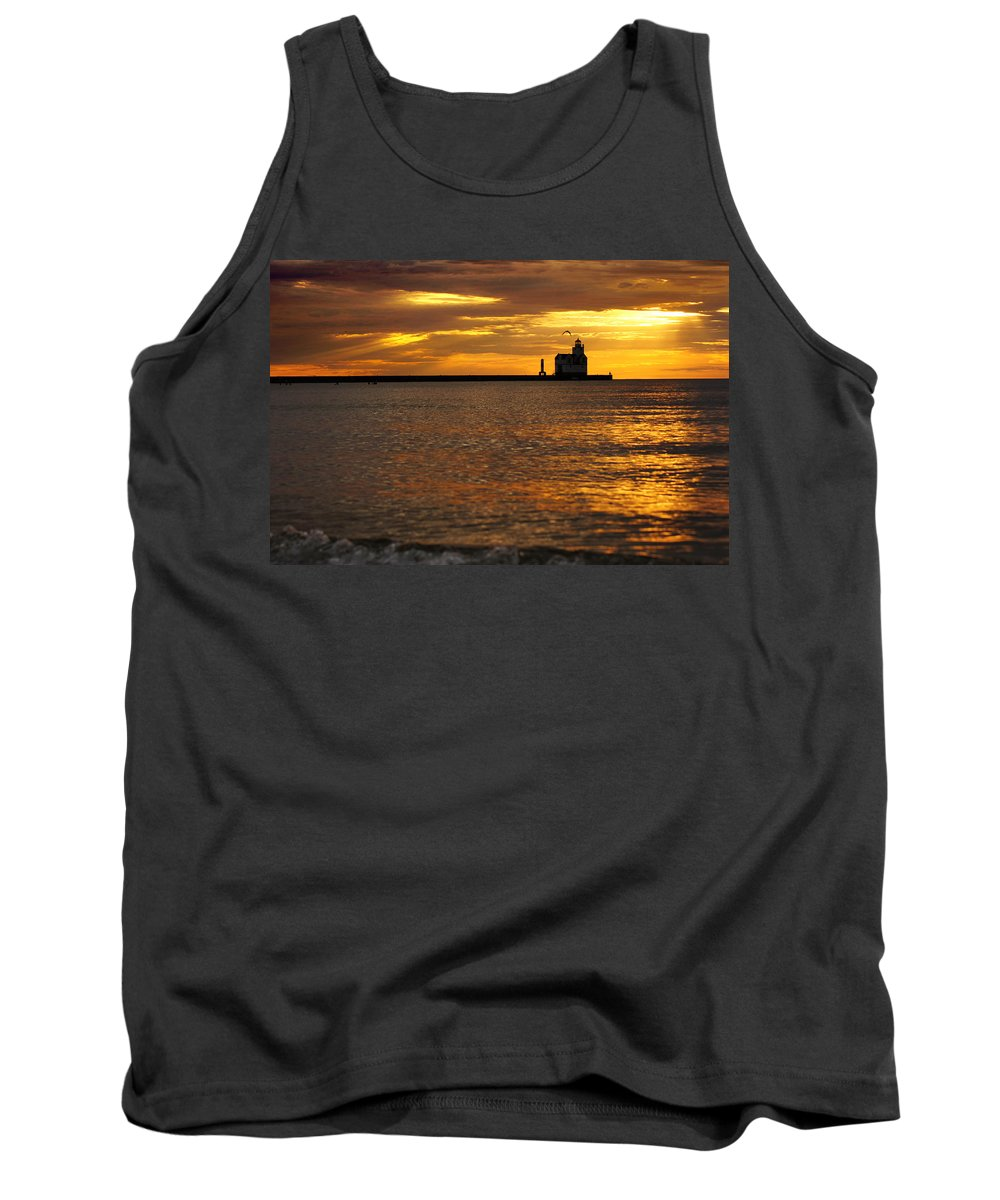 Lighthouse Tank Top featuring the photograph Skylights by Bill Pevlor
