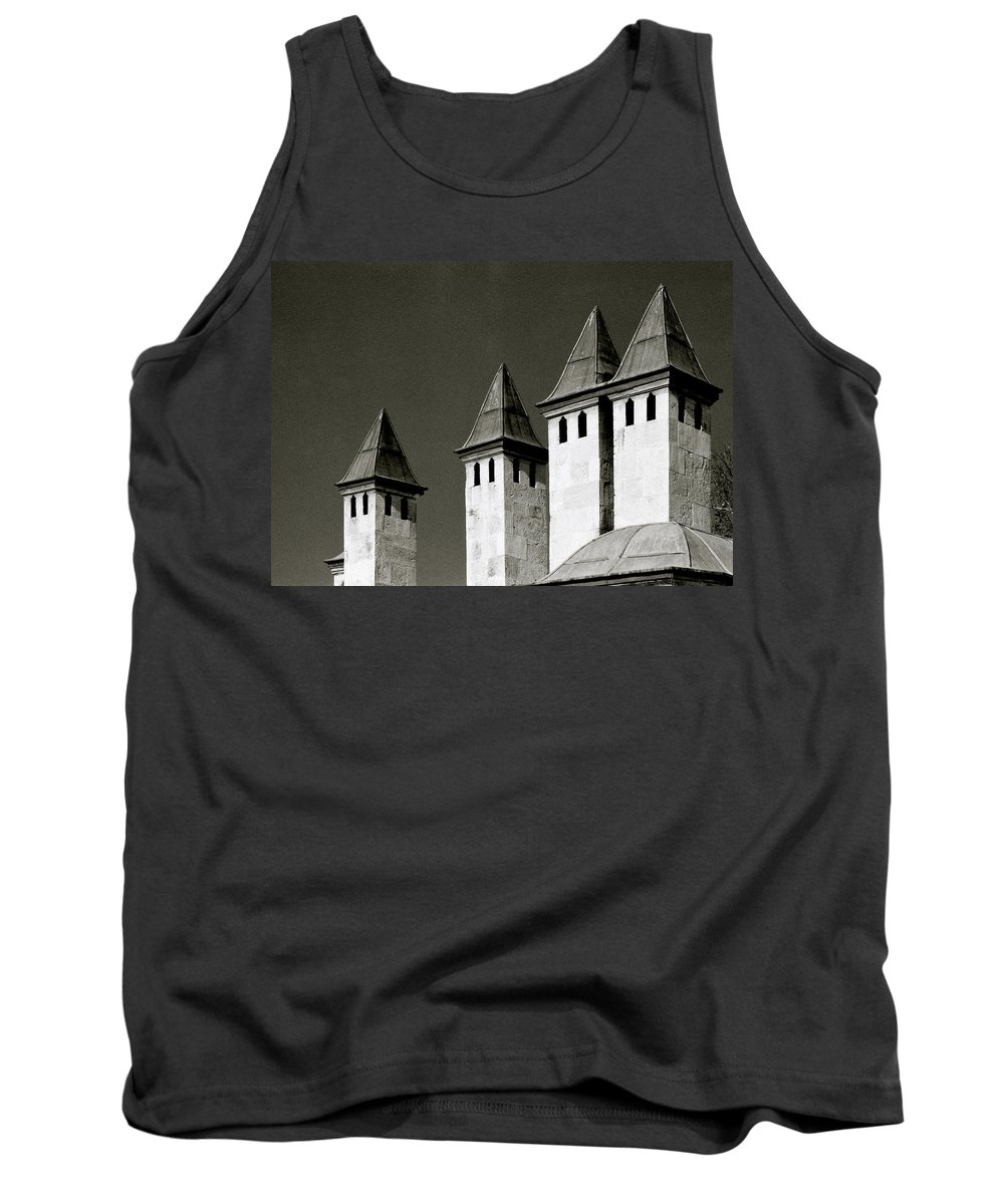 Istanbul Tank Top featuring the photograph The Small Minarets by Shaun Higson