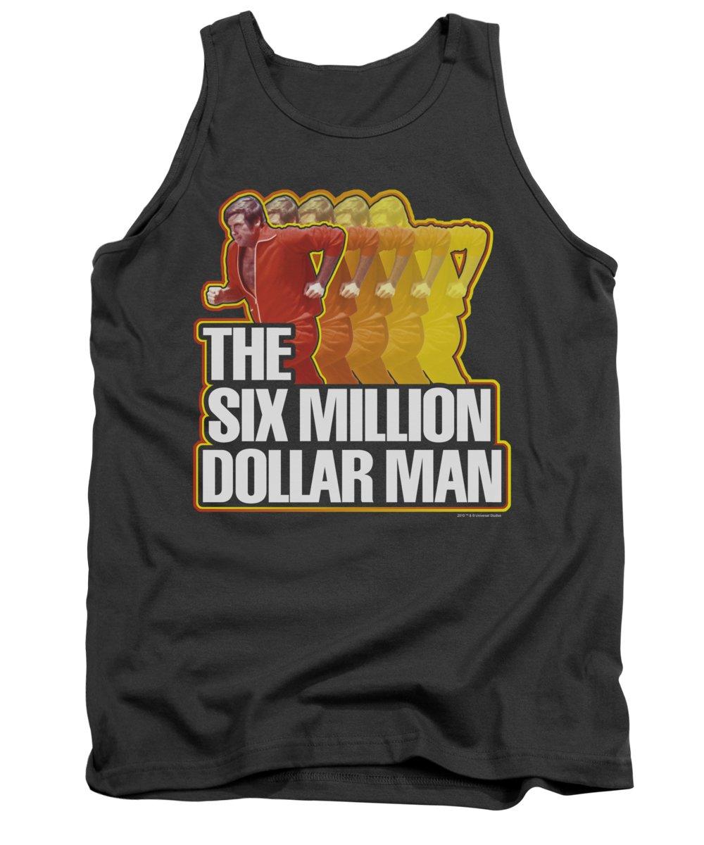 Six Million Dollar Man Tank Top featuring the digital art Smdm - Run Fast by Brand A