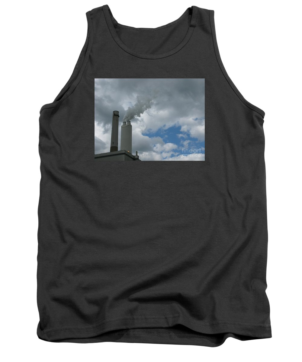 Smoke Stack Tank Top featuring the photograph Smoking Stack by Ann Horn