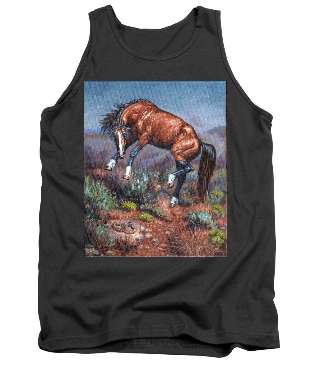 Wild Horses Tank Top featuring the painting Sn Neigh Kk by Kerry Nelson