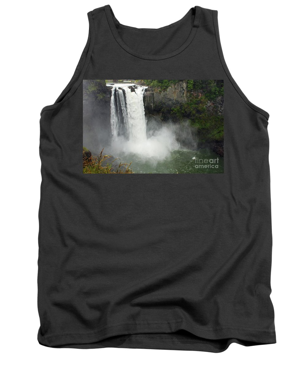 Snoqualmie Falls Tank Top featuring the photograph Snoqualmie Falls by Carol Groenen