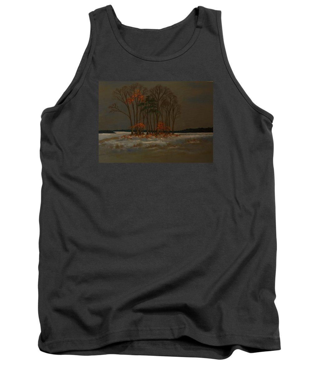 Wood Tank Top featuring the painting Snow by Birgit Schnapp