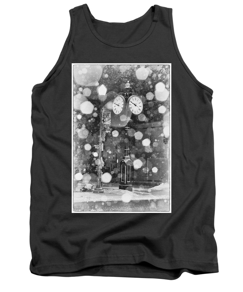Snow Tank Top featuring the photograph Snow Time Holly Michigan by Debby Richards