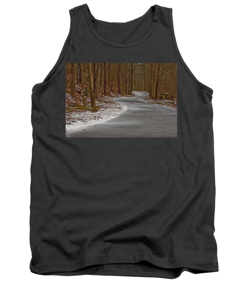 Gateway Trail Tank Top featuring the photograph Snowy Trails by Donna Collins