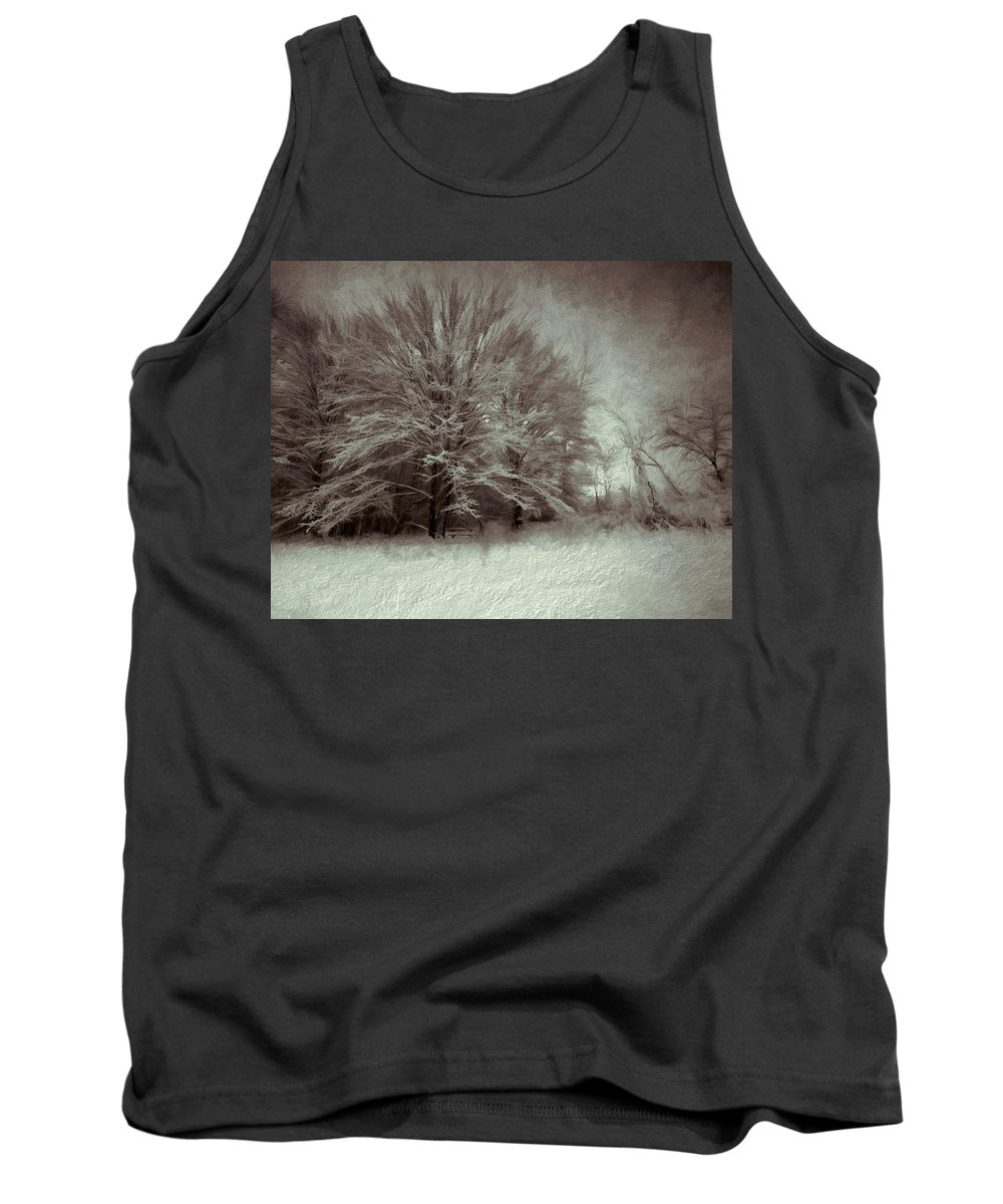 Winter Tank Top featuring the photograph Snowy Treasure by Tina Baxter