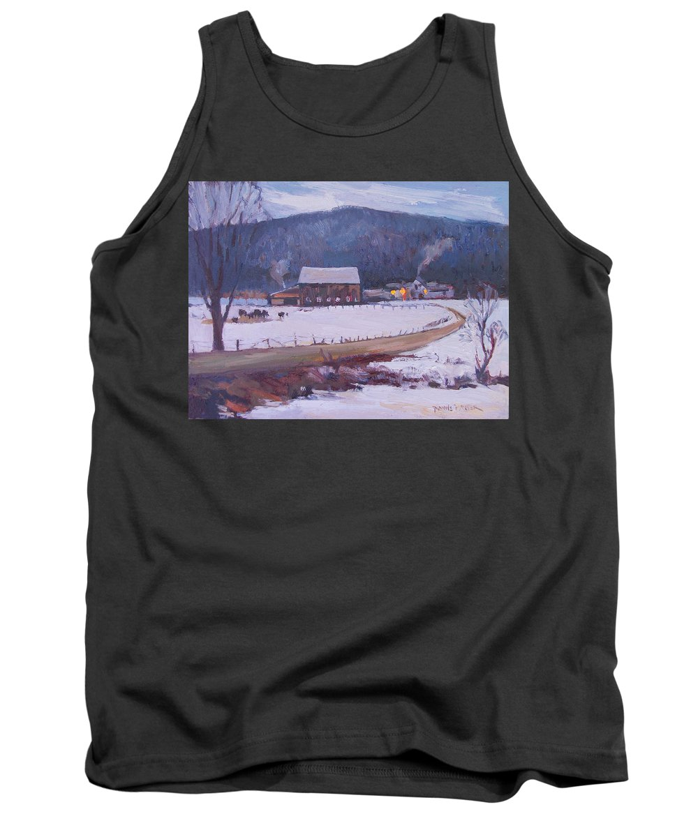 Jeffersonville Tank Top featuring the painting Snuggled In by Dianne Panarelli Miller