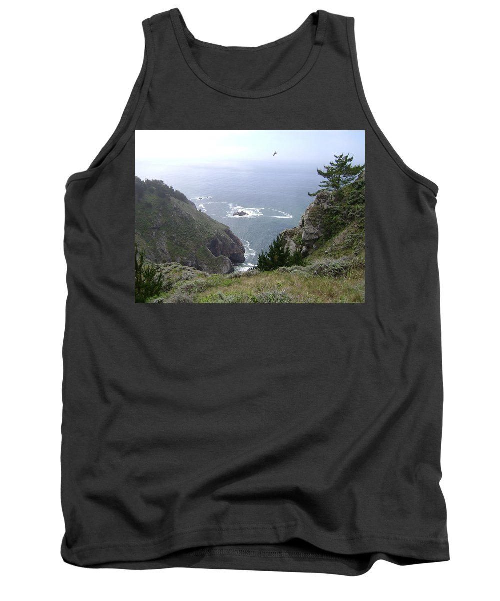 California Tank Top featuring the photograph Soaring Over The Cliffs by Mike Niday