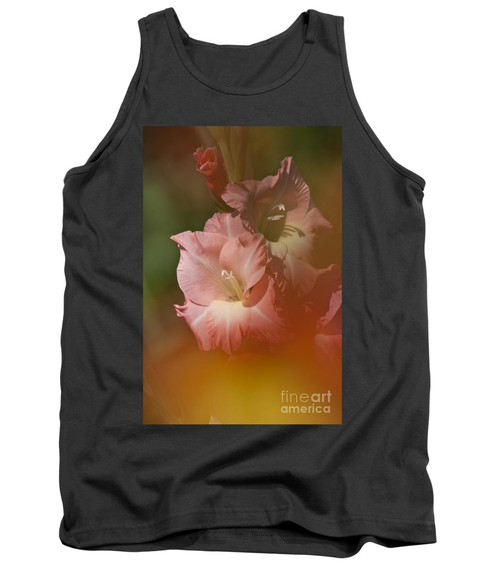 Gladiolus Tank Top featuring the photograph Soft Gladiolus by Heiko Koehrer-Wagner