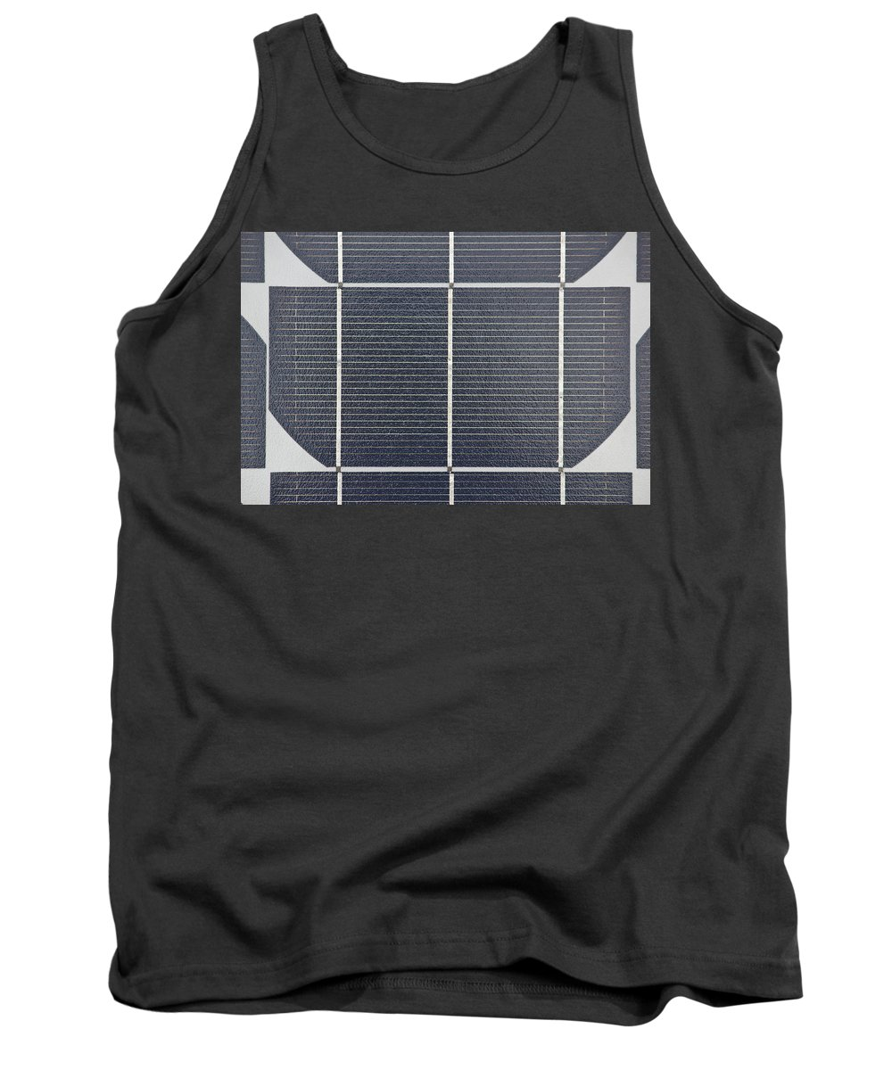 Alternative Tank Top featuring the photograph Solar Panel Collector Closeup View by Brch Photography