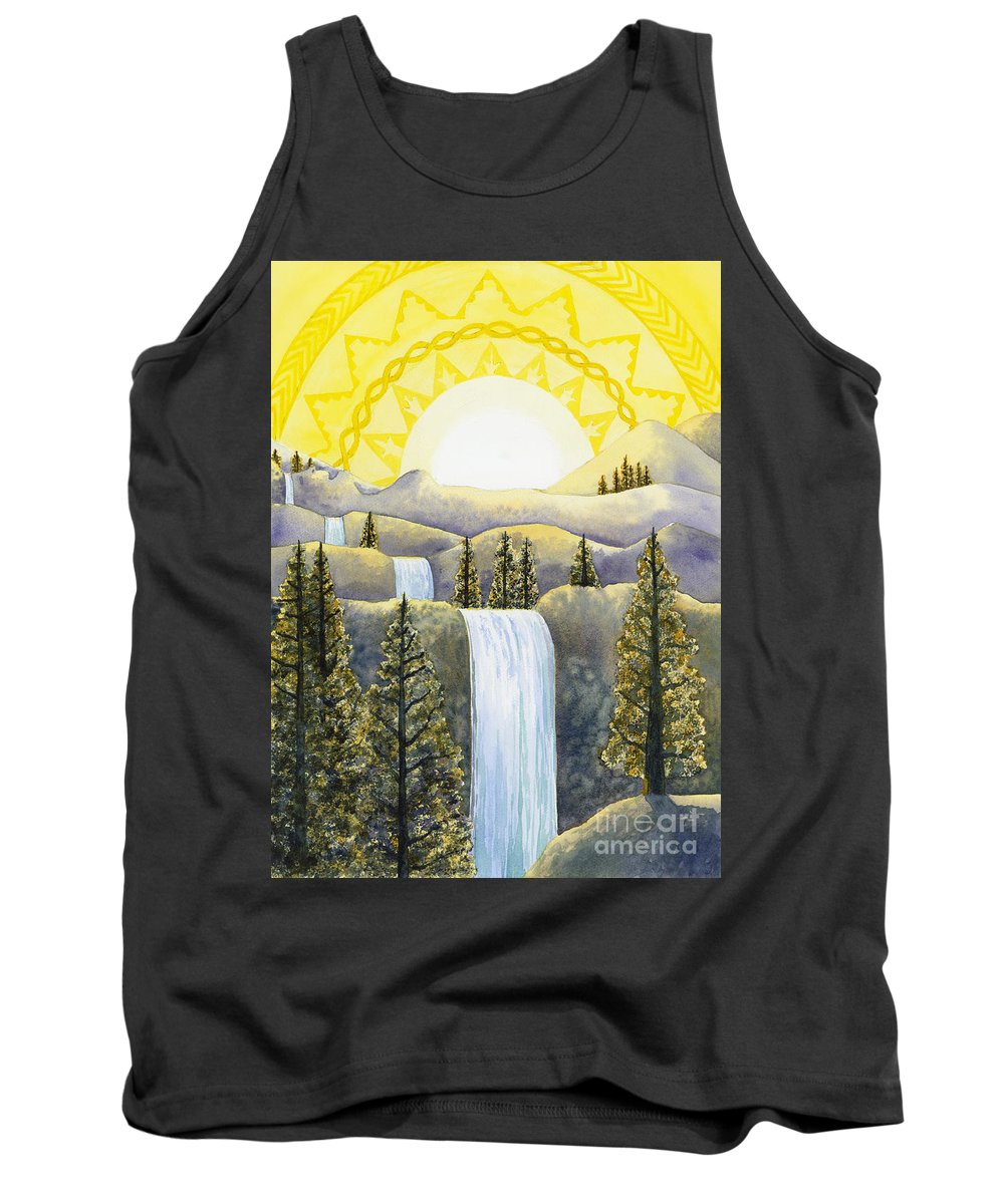 Power Tank Top featuring the painting Solar Plexus Chakra by Catherine G McElroy