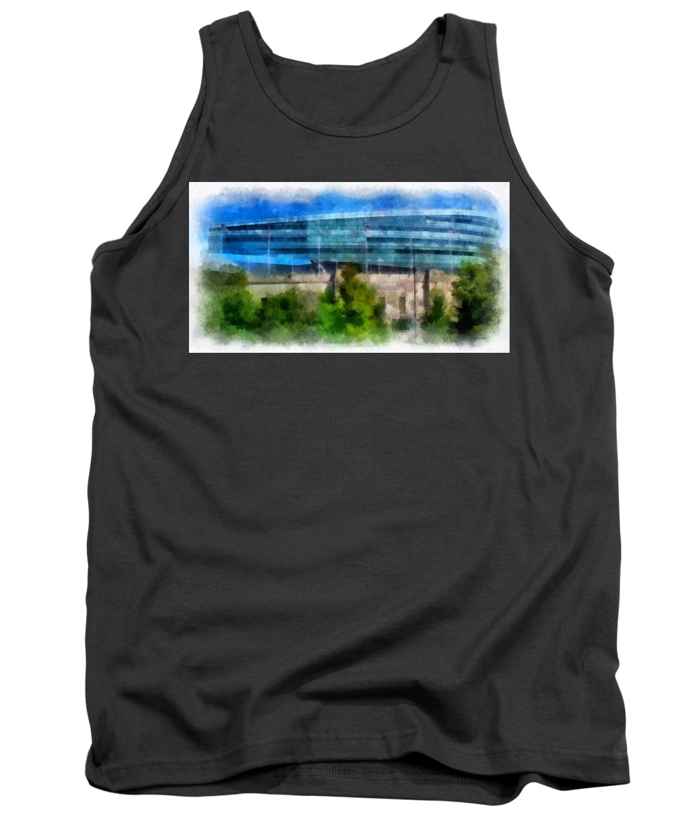 Chicago Tank Top featuring the photograph Soldier Field Chicago Photo Art 01 by Thomas Woolworth
