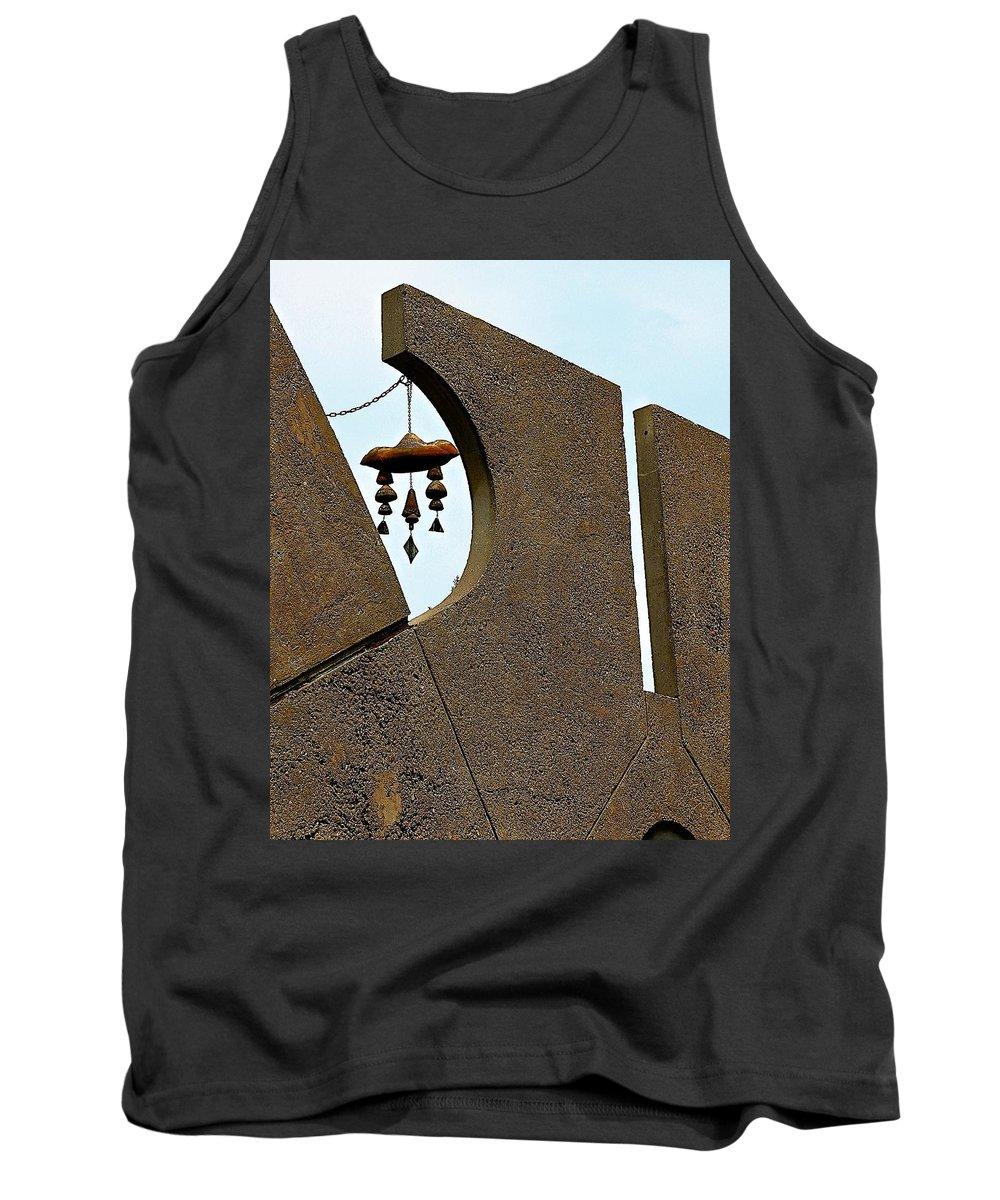 Arcosanti Tank Top featuring the photograph Soleri Bells by Barbara Zahno