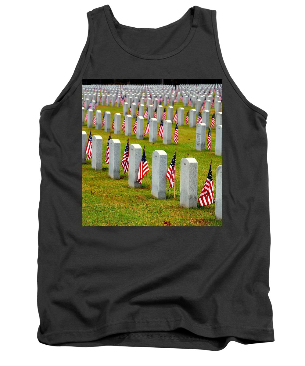 Celebrating And Remembering Veteran's Day Tank Top featuring the photograph Some Gave All by Shannon Louder