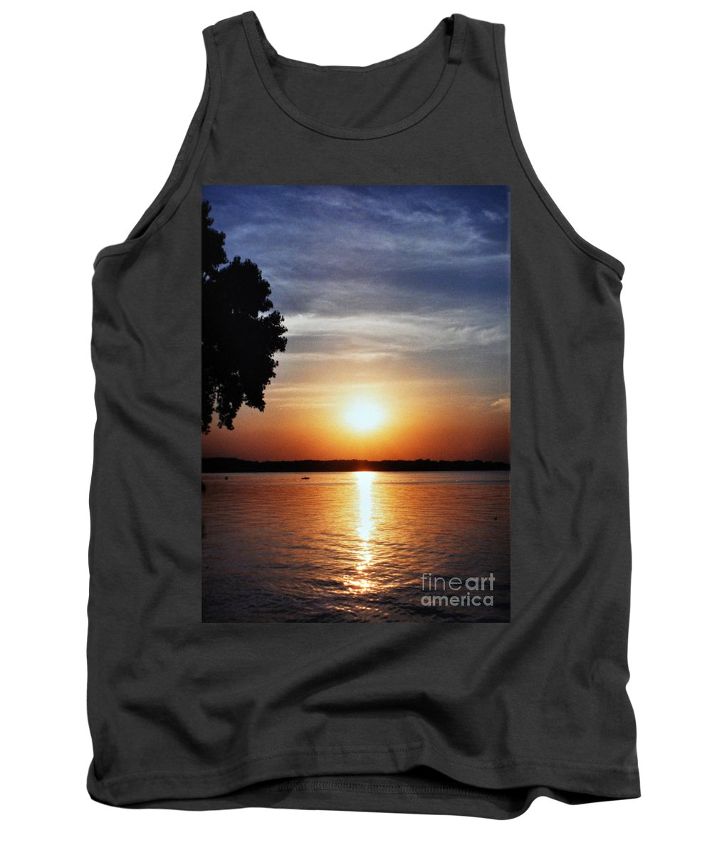 Somewhere Sunset Tank Top featuring the photograph Somewhere Sunset by Lydia Holly