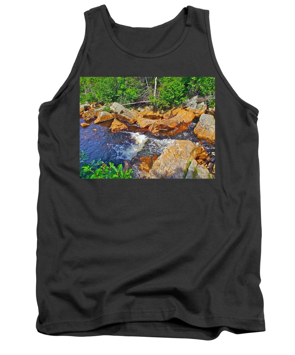 Southeast Brook Above Falls In Gros Morne Np Tank Top featuring the photograph Southeast Brook Above Falls In Gros Morne Np-nl by Ruth Hager