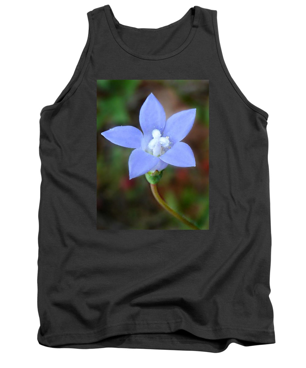 Wahlenbergia Marginata Tank Top featuring the photograph Wild Southern Rockbell by William Tanneberger