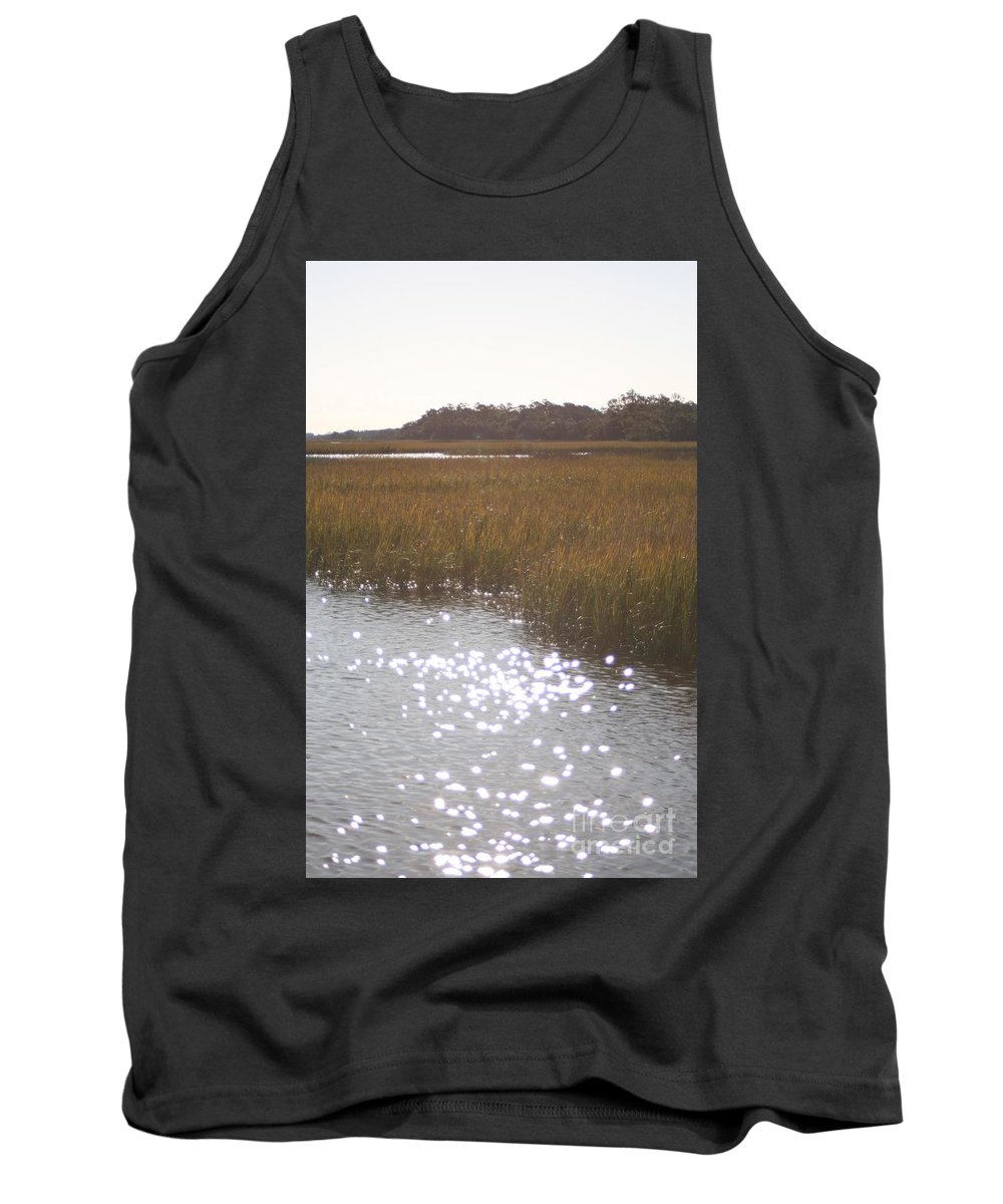 Marsh Tank Top featuring the photograph Sparkling Marsh by Nadine Rippelmeyer
