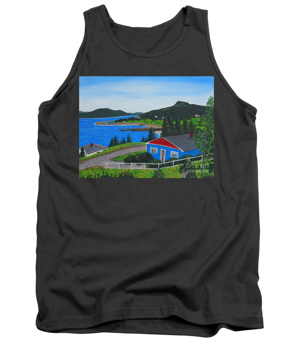 Point Of Land Tank Top featuring the painting Sparrows Point - Ship Harbour N L by Barbara Griffin