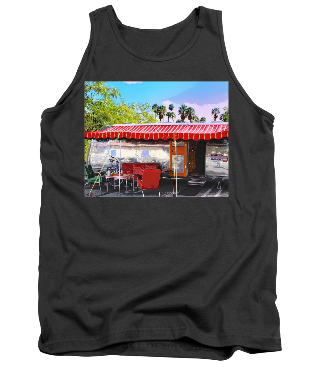Airstream Tank Top featuring the photograph Spartan Manor Palm Springs by William Dey