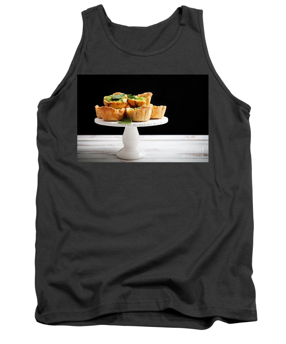 Parmesan Tank Top featuring the photograph Spinach Pie by Kati Finell