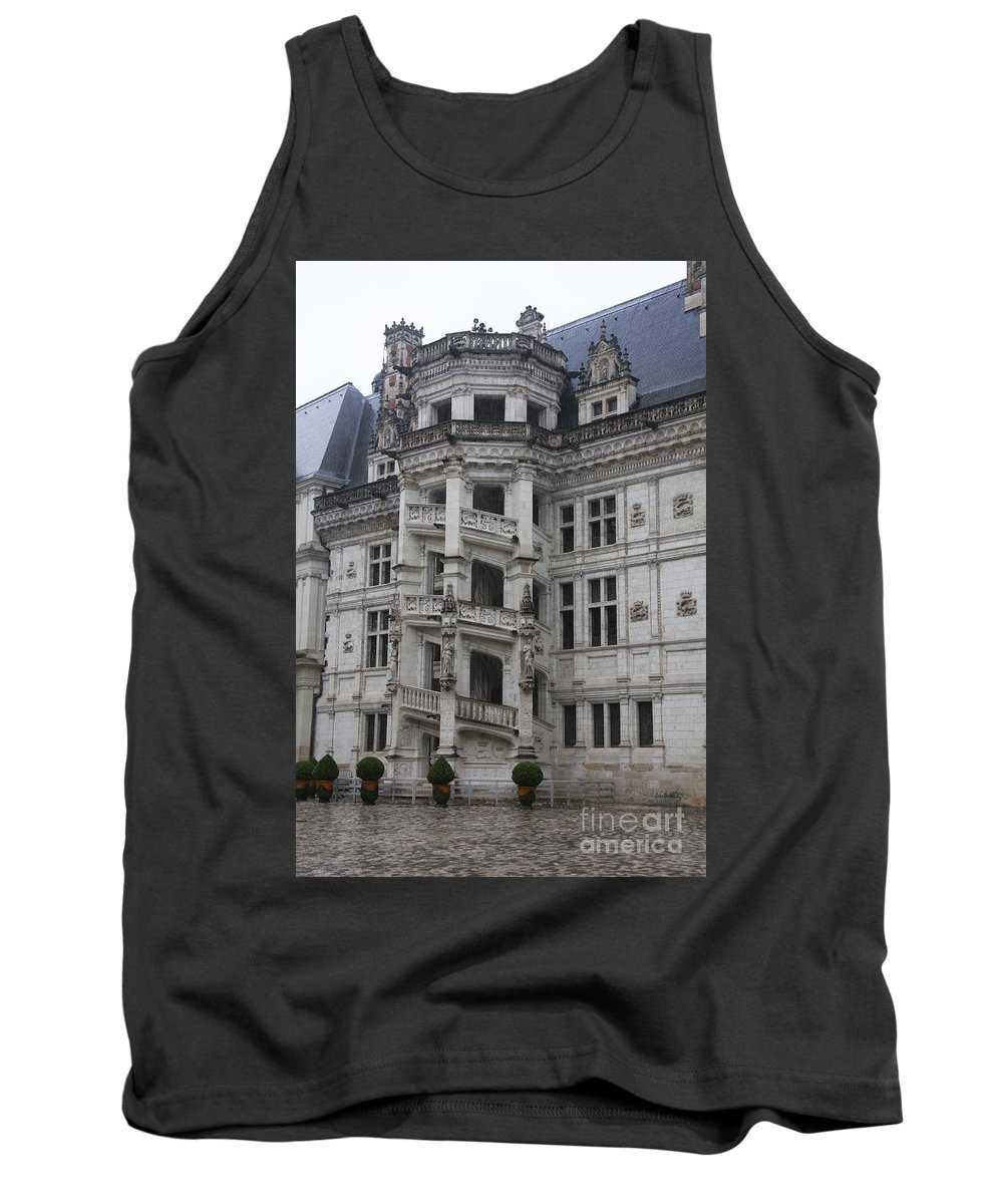 Stairs Tank Top featuring the photograph Spiral Staircase Chateau Blois by Christiane Schulze Art And Photography