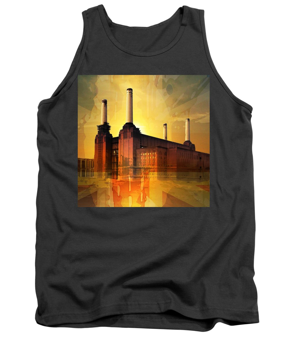 Battersea Tank Top featuring the photograph Splattersea Square 2014 by Big Fat Arts