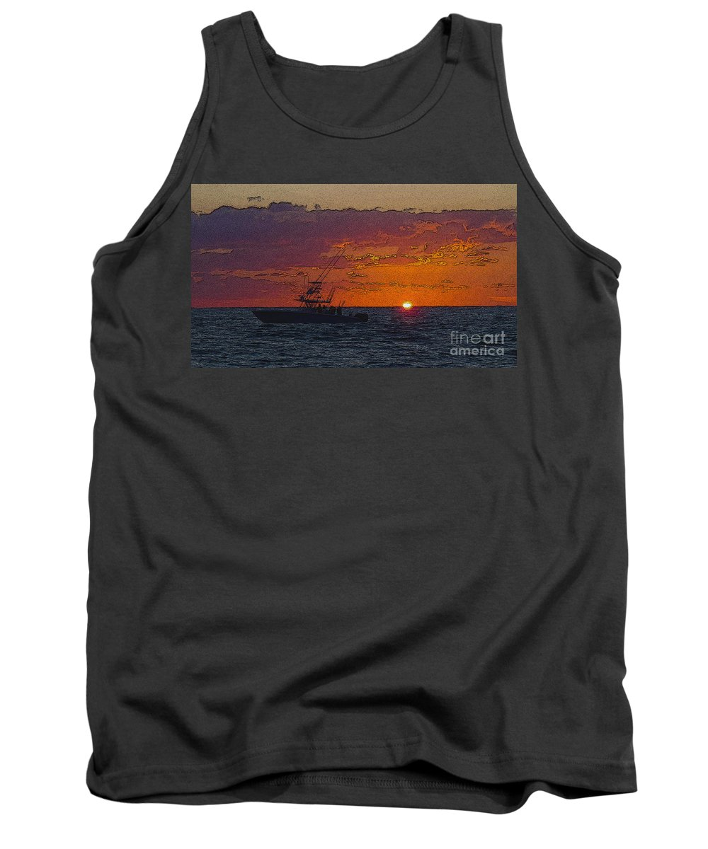 Sportfishing Tank Top featuring the photograph Sport Fisher by Carey Chen